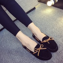 In spring and autumn beans shoes girl Korean version of the flat bottom of a Joker womens shoes fashion shoes students love lazy leisure shoes women