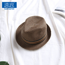 Fast Wave Travel resort seaside European and American beach Straw hat male Inverness jazz hat outing Sunscreen sun hat