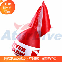 Aturdive PVC Diving Buoy Inflatable buoy mouth blowing surface signal diving special warning float ball