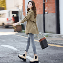 Windbreaker womens short 2021 new womens autumn clothing early autumn jacket casual little spring and autumn coat tide