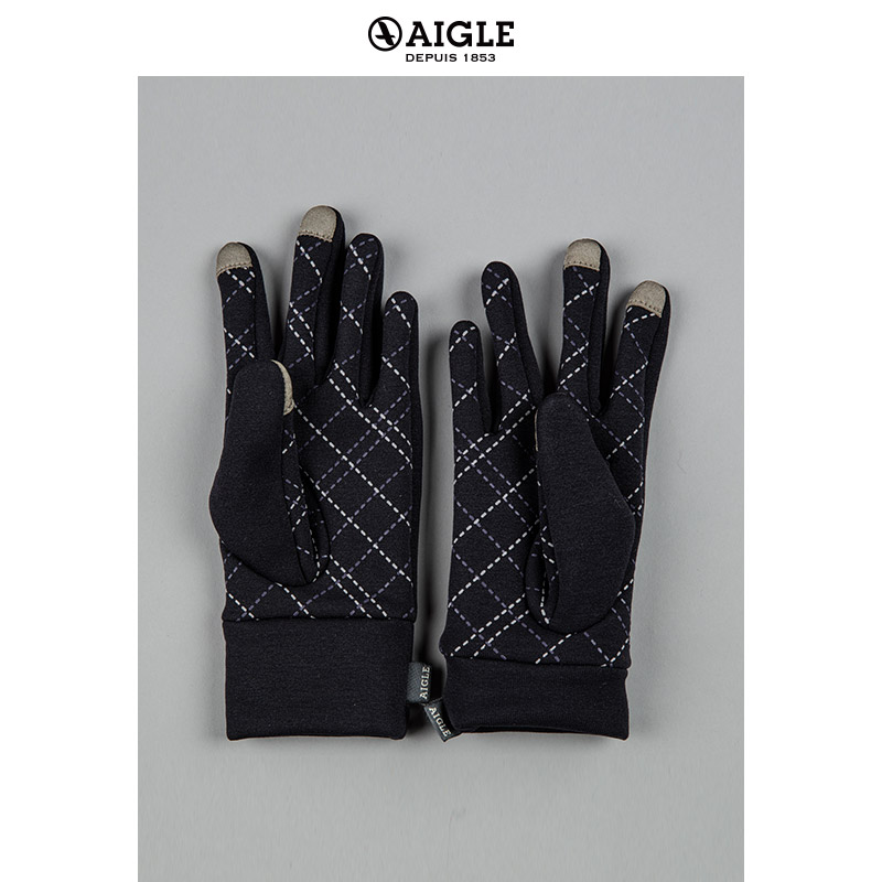 AIGLE Men's Thermal Stretch Fleece Gloves GREZIL