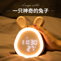 Smart little alarm clock students with cartoon children dedicated charging multi-牀 head electronic alarm girl cute bedroom