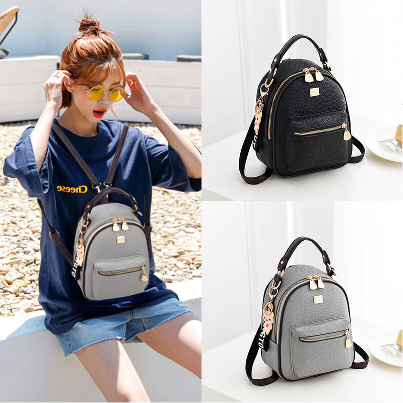Autumn and Winter Small Backpack Female Shoulder Baggage Female 2019 New Fashion Simple Korean Version Baitao Fashion Personality Mini Popular