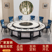 Hotel hot pot table Induction cooker One commercial one person one pot hot pot table Electric turntable box Restaurant