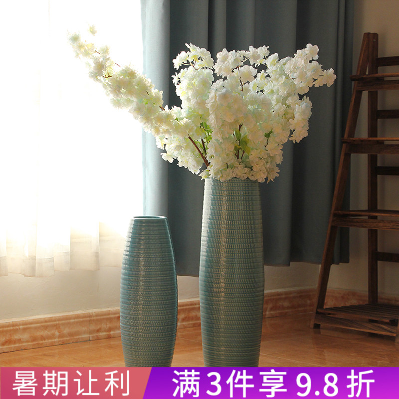 Jingdezhen Ceramics Modern Simple American-style Living Room Flowers Ground Flowers, Skyline Vases Decorative Ornaments