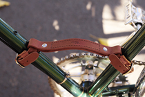 gyes Handmade Bicycle leather carry hand retro bicycle pure leather accessories carry handle