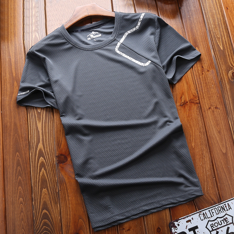 Desai Gyp Sports Short Sleeve Speed Dry T-shirt Men's Round-collar Summer 2019 Lovers Running Loose Quick Dry Clothes Outdoors