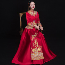 Xiu wo Clothing Bride 2018 new chinese wedding dress reception costume married clothes toast gown winter
