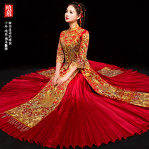 Xiuhe service bride 2018 new summer Chinese wedding dress costume wedding dress toasting clothes dragon and Phoenix gown