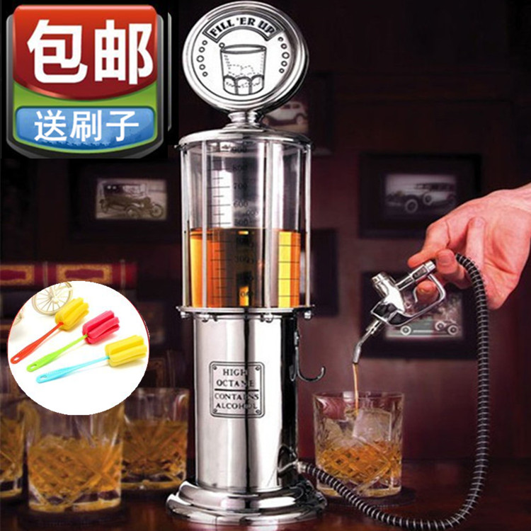 Creative gas station single gun double gun water dispenser high-end bar beverage machine wine cannon beer tower beer bar