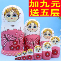 Russian doll 10-storey genuine 10-storey air-dried basswood children's festival gifts puzzle toy crafts 635
