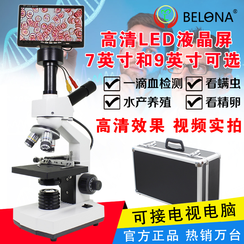 Biological German 500W Pixel Microscope for Detecting Sperm Ovulation of Acarid in High Definition