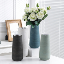 Vases Nordic creative minimalist modern ins wind ceramic small flower dry flowers living room table decorations
