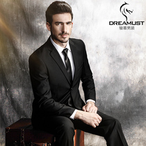 Mens summer slim business suit suit