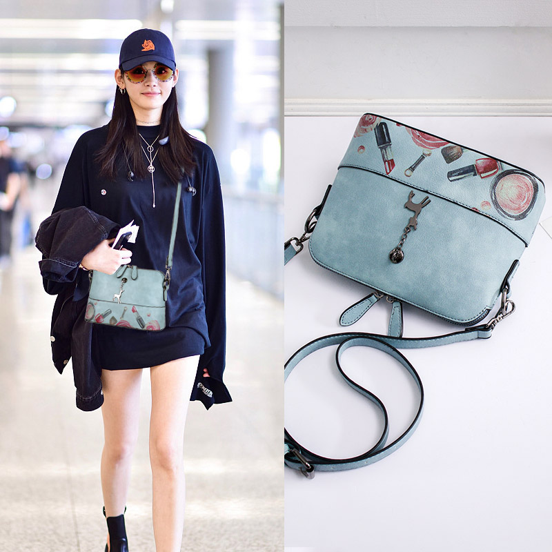 New small bag female 2018 new wave Korean version of the wild Messenger bag ins super fire single shoulder shell bag chic