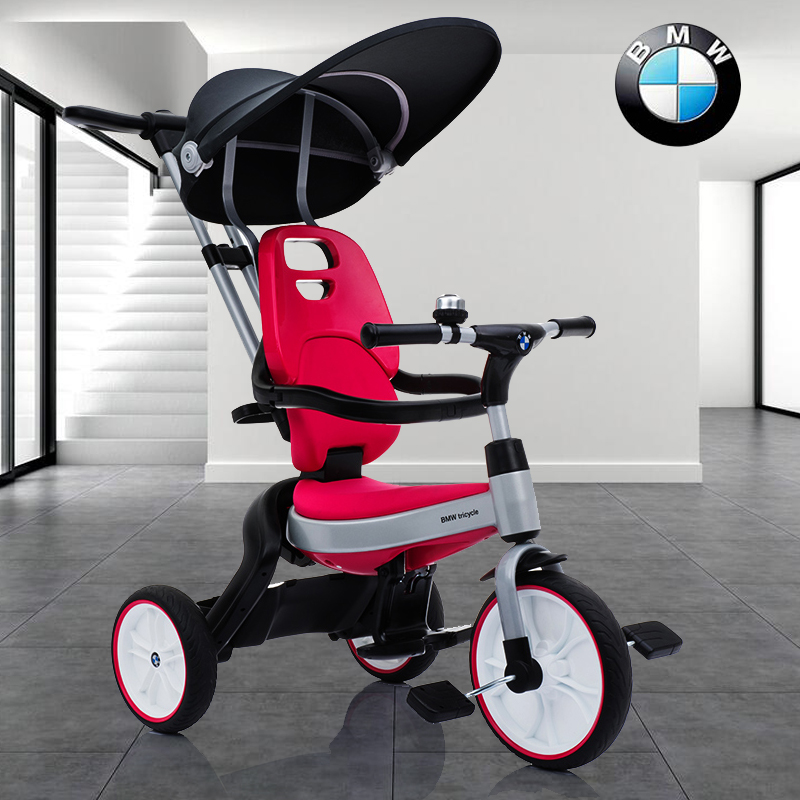 Formal BMW Folding Children's Tricycle 1-3 Year-old Baby Trolley 2-6 Year-old Big Baby's Bicycle