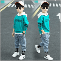 Boys spring suit new 2019 yangqi childrens spring and Autumn Sweater two-piece set in 2020 in the Big childrens Korean version of the tide