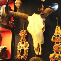Natural yak skull crafts niu Sheep head hotel decorations featured handicraft Gifts (Special Offer)