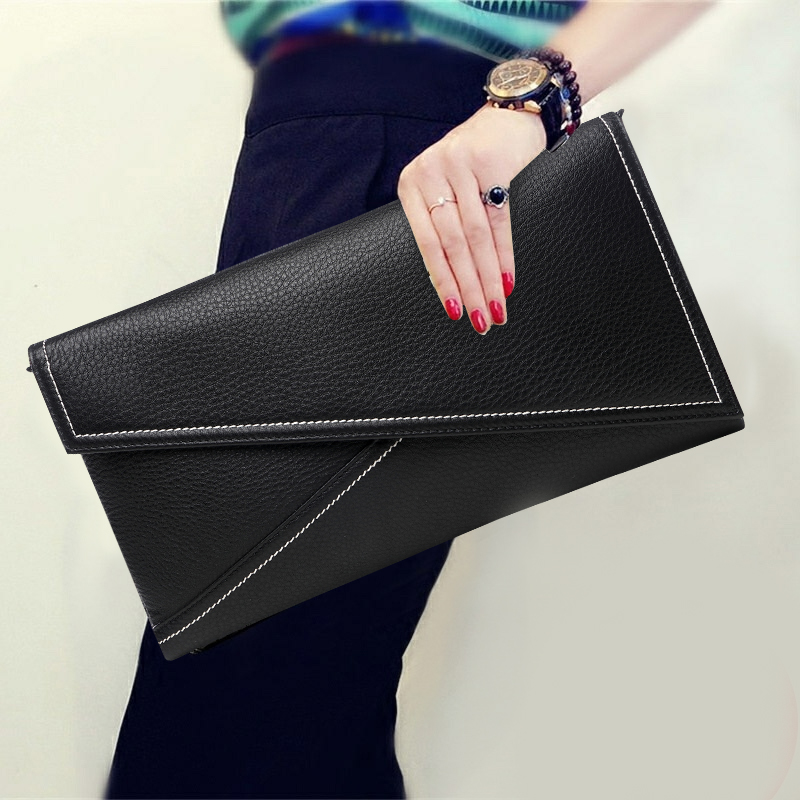 Soft leather bag versatile clutch bag female Korean version 2018 autumn new wave personality fashion dinner bag large capacity