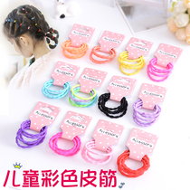 Childrens hair decoration Korean girl hair ring hair rope head rope does not hurt the hair bamboo knot colored leather ribs.