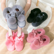 A couple of cotton slippers in autumn and winter warm Home Furnishing thick bottom package with lovely indoor shoes slippers in winter