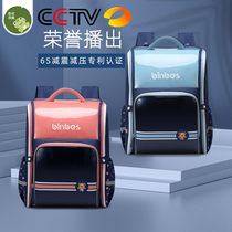 Japanese elementary school students reduce the burden of ridge protection schoolbag male 123 to 6th grade children waterproof large capacity light female