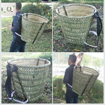 Bamboo-made bamboo basket Sichuan 篼 props揹 baskets to collect 45cm bamboo basket bamboo basket adult farmers back