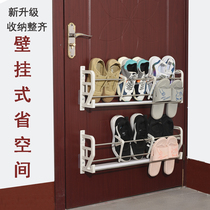 Household new free punch door after hanging shoe rack nail-free shoe cabinet security door shoe rack paste rack can be hung