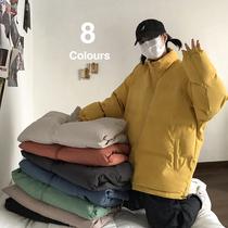 Cotton clothes oversize womens trend 2021 new winter thickened Korean version loose cotton coat design sense niche coat