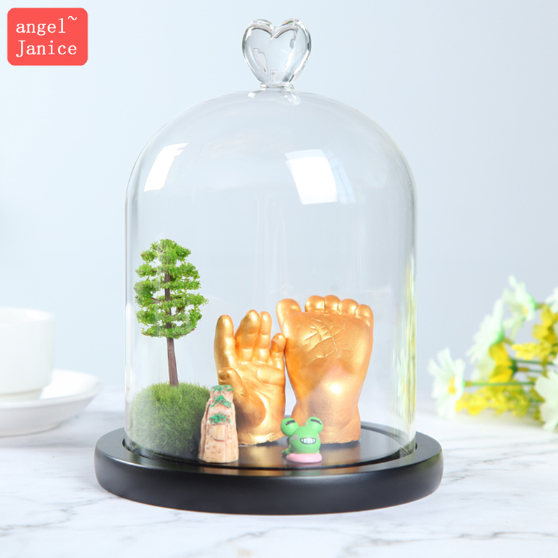 Three-dimensional cloning powder crystal ball hand-foot model baby hand-foot model baby full moon centenary gift