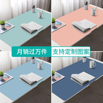 Accompanying a lifetime desk mat oversized can be customized size mouse pad computer table mat mens and womens notebook computer keyboard pad home desk mat students writing desktop company gifts