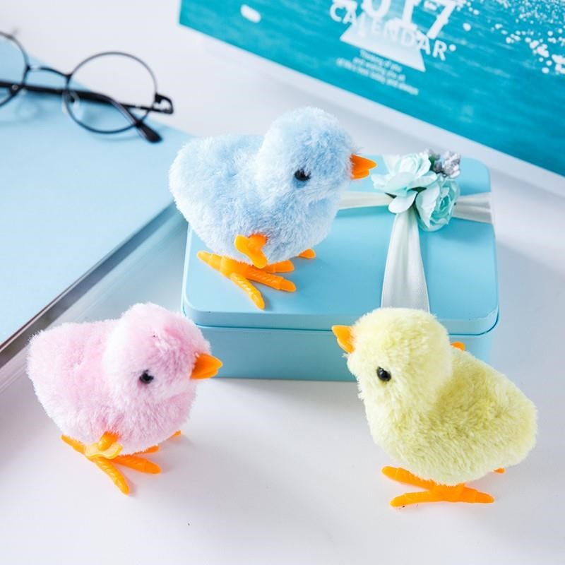 Upper Chain Chicken Hair Plush Toy Jump Chicken Children's Toy Chicken Jump Chicken Square