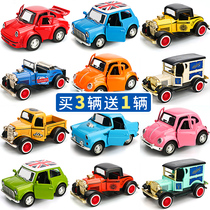 Alloy Q version of the car toy baby mini cartoon sports car classic car pull back pickup model Buy three get one free
