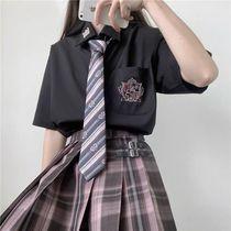 Song of the polar night jk uniform skirt genuine suit Full set of Japanese summer college style female students original pleated grid skirt
