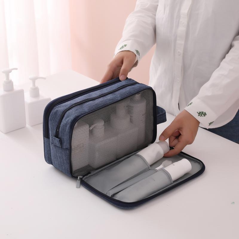 Wash bag mens travel toiletries collection bag waterproof portable travel artifacts mesh red makeup bag