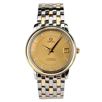 (Second hand 95 new) Omega disc flying series 18K gold and steel automatic mechanical mens watch 4300.15.00.