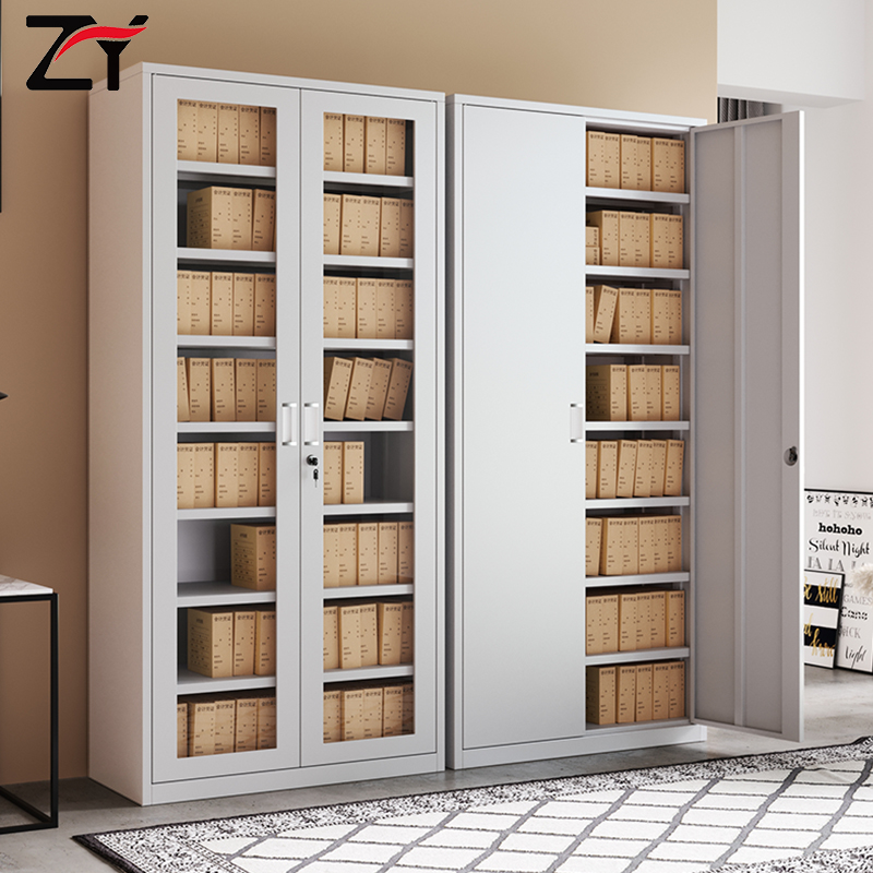 File cabinet tin cabinet information cabinet file cabinet bookcase financial storage steel with lock glass office voucher cabinet