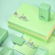 Green Tea Packing Box Empty Gift Box Spring Tea Tea Cans Empty Box New Black Tea Packing Box Customized