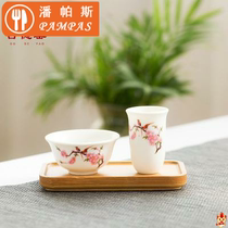 Accessories smell incense cup jade white porcelain smell cup tea cup single cup kung fu tea tea tea art set purple sand tasting cup