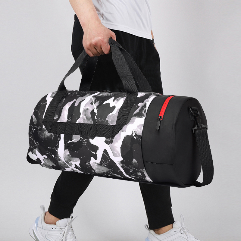 Sports fitness training backpack men dry and wet separation diagonal bag travel business trip large capacity hand luggage bag