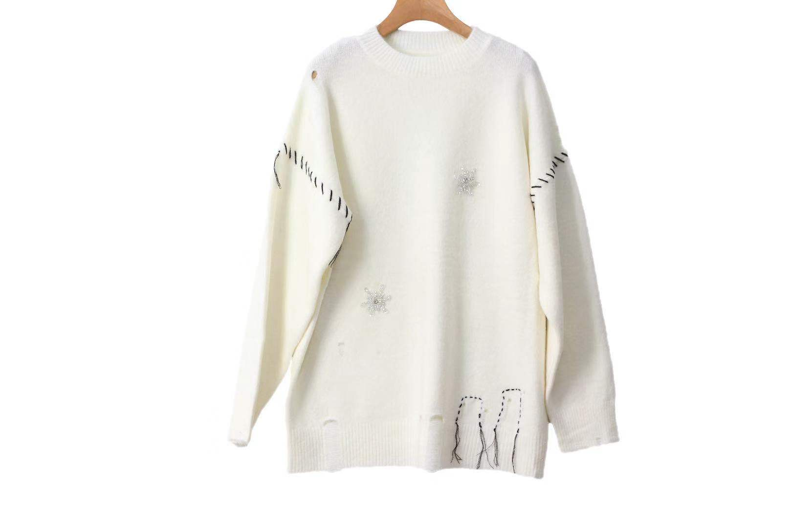 2002 long-sleeved loose sweater sleeve LC086