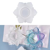 Bricolage 3D Lotus bougeoir Silicone moule résine époxy fleur