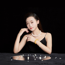 New anchor crystal bracelet comfortable ring garnet and Tian jade jewelry necklace
