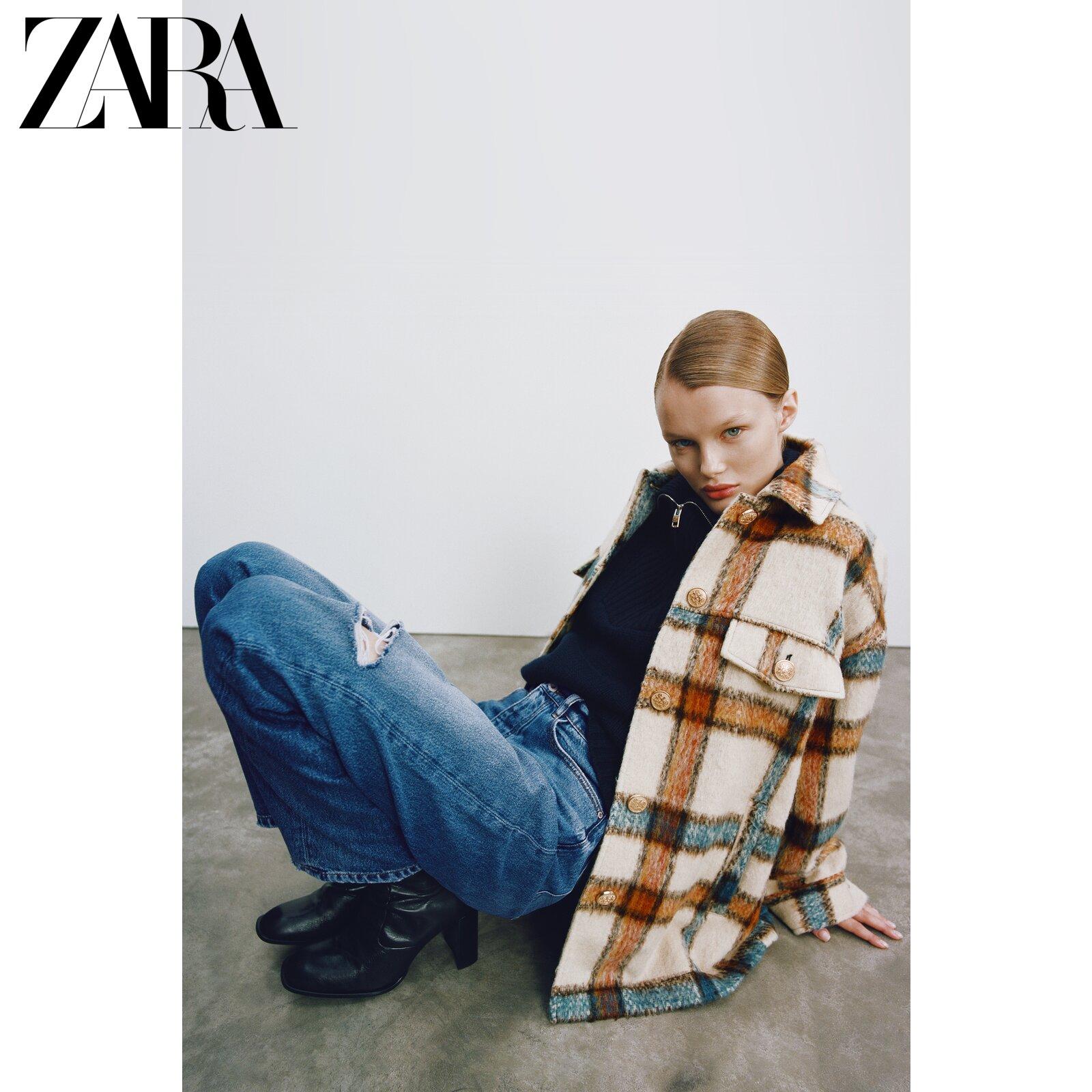 ZARA New Womens Grid Shirt Jacket 08372236080