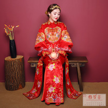 Xiu Wo dress Bride chinese dress 2018 new Wedding Toast dress a large ancient costume wedding gown and clothing