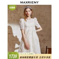 MAXRIENY short-sleeved doll dress 2021 summer new bubble sleeve dress foreign style princess dress A-line short skirt