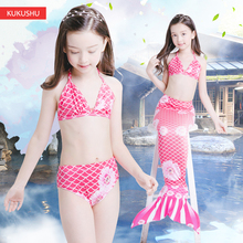 Children Mermaid tail swimsuit girl swimsuit, hot spring princess, real bikini split swimming suit