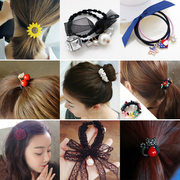 South Korea sweet hair hair lady Tousheng rubber band ring simple leather hair band all-match Tiara hair rope