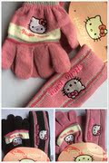 A25 foreign trade children's lovely gloves with two pieces (2-10 years old)