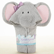 American elephant style baby bath with baby towel bathrobe does not contain fluorescent agents